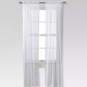 Chiffon Sheer Curtain One Panel Set 95x52